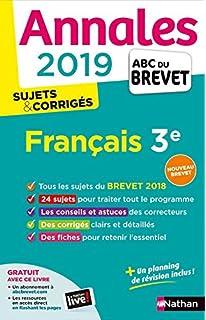 Annales ABC du Brevet 2019 - Francais - sujets et corriges (French Edition)