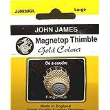 Colonial Needle JJ0630GL - Dedal con imán, tamaño Grande, Color Dorado