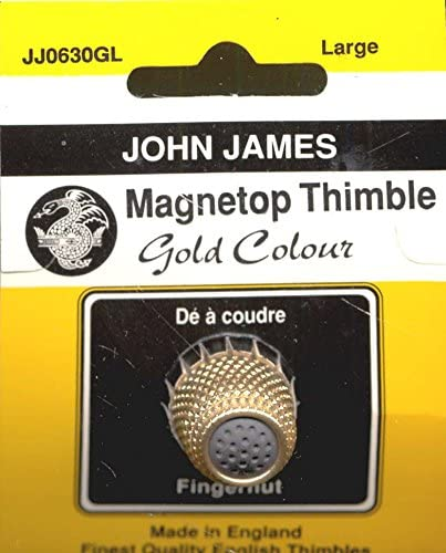 Gold Large Colonial Needle JJ0630GL Magnet Top Thimble