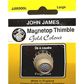 Colonial Needle JJ0630GL Magnet Top Thimble, Large, Gold