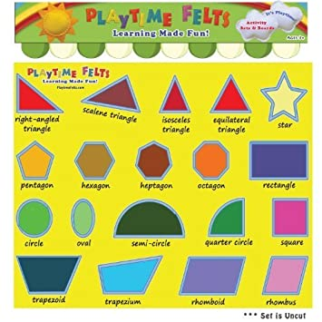 Worksheets Names Of Shapes amazon com fun felt shapes with real big names activity flannel board set by playtime felts