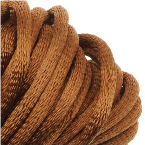 Beadaholique Rayon Satin Rattail 2mm Cord - Knot & Braid - Dark Tan Brown (6 Yards)