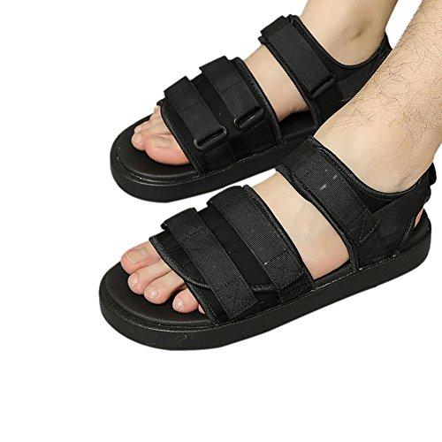 Ajustable sandales adulte Antidérapant Chaussures Strap Loisir Des De Chaussons air plein Noir Meijunter Doux mixte CqttX