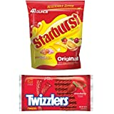 This special bundle of Starburst Original Candies and Twizzlers Twists strawberry flavored licorice is a favorite for office, home or dorm room. It is the perfect choice for the snacking enthusiast in all of us!