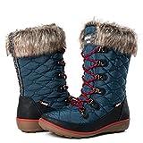 GLOBALWIN Women's 1731 Winter Waterproof Snow Boots (11 D(M) US Women's, 1731Blue)