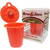 Brew & Save Carafe Reusable Coffee K-Cups for Keurig 2.0 Brewers, 1.9 Ounce