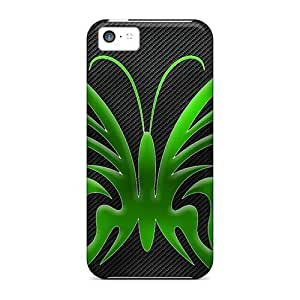 linJUN FENGTop Quality Protection Green Butterfly Case Cover For iphone 5/5s
