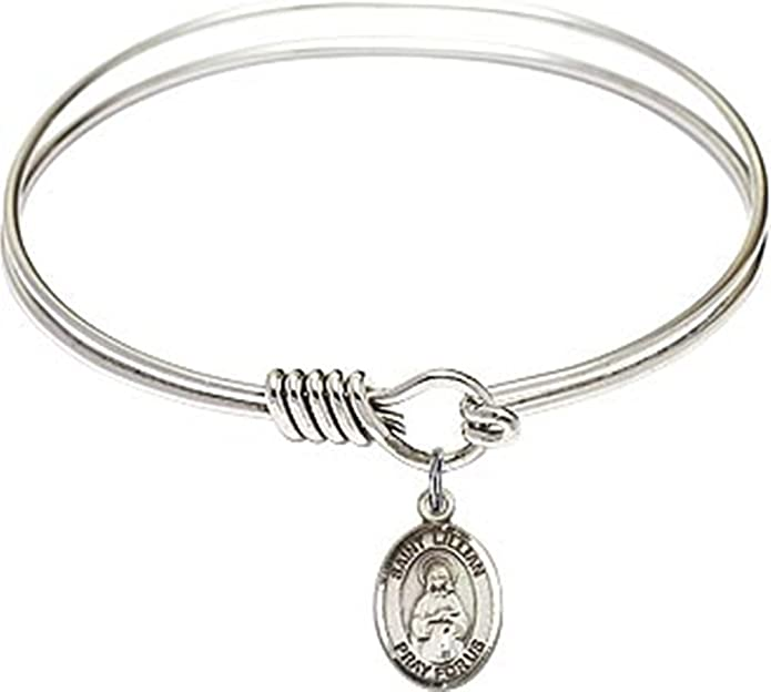 Gabriel Possenti Charm On A 6 1//4 Inch Oval Eye Hook Bangle Bracelet St