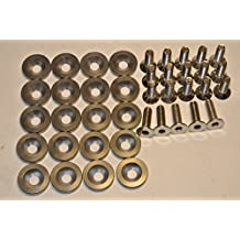 J-Specialty 20 Pack Bumper Fender Headlight Anodized Gray Aluminum Washer M6x20 10mm Bolt