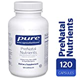 Product review for Pure Encapsulations - PreNatal Nutrients - Hypoallergenic Nutritional Support for Pregnancy and Lactation* - 120 Capsules
