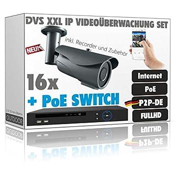 2.4MP IP Video Vigilancia Juego con 16accesorios de cámaras IP PoE (Incluye-8000GB: Amazon.es: Bricolaje y herramientas