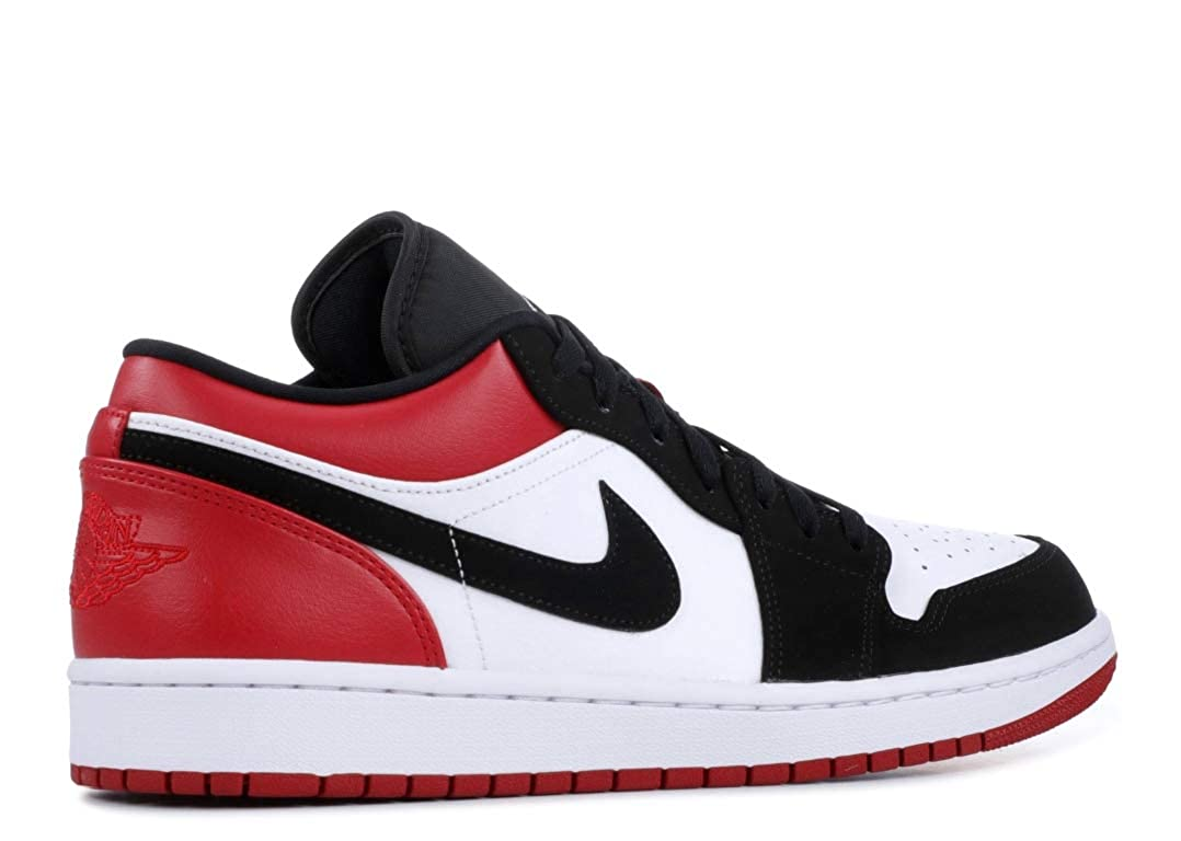 reputable site bc6dc bc92d Amazon.com | Jordan Air 1 Low (White/Black-Gym Red, 8 ...