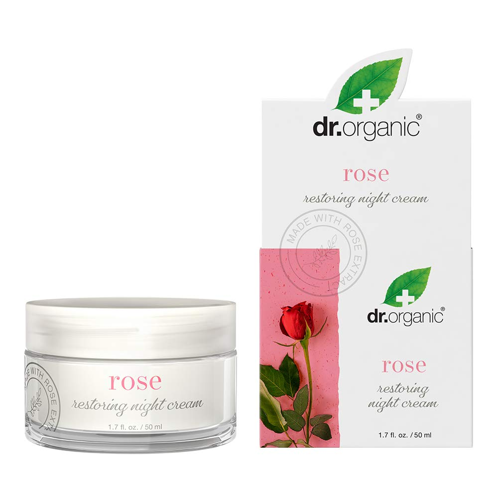 Dr.Organic Restoring Night Cream with Organic Rose Extract, 1.7 fl oz