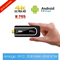 Android TV Stick TV Box H96 Pro Mini PC Android 7.1 Amlogic S912 Octa-core 64 Bit True 4K HDR TV Dongle [ 2GB+8GB ] Smart Set Top Box Support 2.4Ghz Wifi / 1000M LAN /Bluetooth 4.1