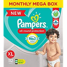 Pampers All round Protection Pants, Extra Large size baby diapers