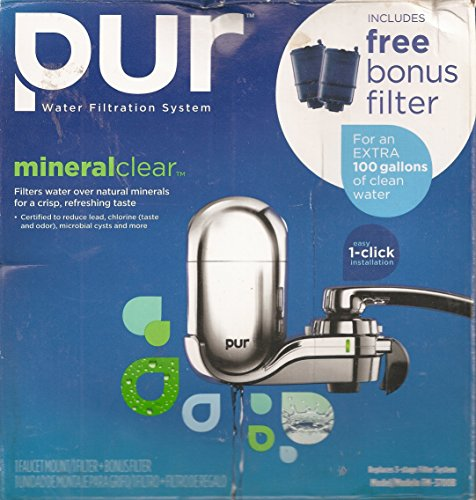 - PUR Chrome Advanced Vertical Faucet Mount W/ One Mineral Clear Filter (FM-3700B)