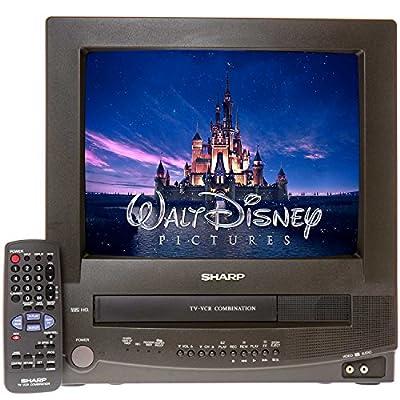 "Sharp 13VT-N100 13"" TV/VCR Combo + 12 Disney VHS Movies"