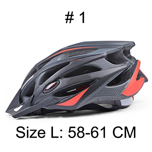 Cycling Helmet Ultralight Bicycle Helmet In-Mold MTB Bike Helmet Regular Color 1 L ()