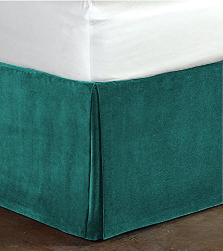 Fascination Classy Royal 100% Cotton Velvet Bedskirt/Valance 15
