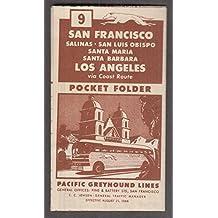 Pacific Greyhound Bus Lines San Francisco-Salinas-Los Angeles Schedule 1946