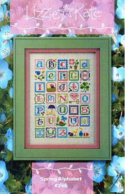 (Spring Alphabet Cross Stitch Chart and Charms )