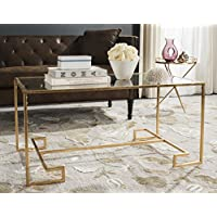 Safavieh Home Collection Burton Gold Coffee Table