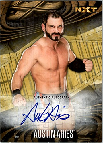 2017 Topps WWE Road to Wrestlemania Autographs Gold #2 Austin Aries Auto /10 - - Burbank Aries