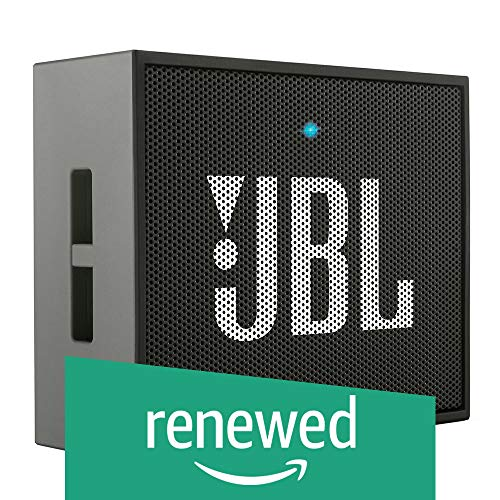 JBL GO Portable Bluetooth Diffuser, Rechargeable, Aux-In Input, Handsfree, Smartphone/Tablet and MP3 Devices, Black…