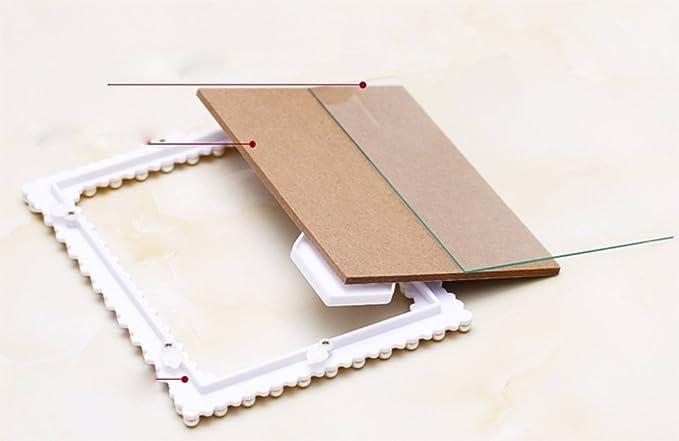weiwei Portaretrato resina creative, Portaretrato rectangular boda Presentes de cumpleaños 6 7 8 pulgadas marco de foto-A 12.7x17.7cm(5x7inch): Amazon.es: ...