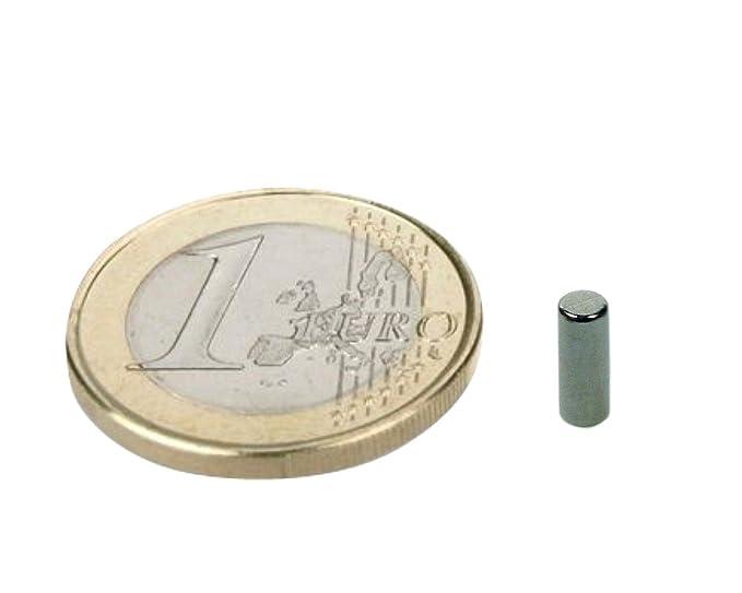 Neodym Stabmagnete D 3x 4mm N35 Nickel hält 320 g extrem starker Magnet