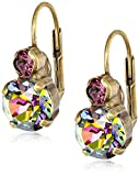 "Sorrelli  ""Volcano"" Round Crystal French Wire Earrings"