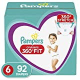 : Diapers Size 6, 92 Count - Pampers Pull On Cruisers 360˚ Fit Disposable Baby Diapers with Stretchy Waistband, ONE MONTH SUPPLY