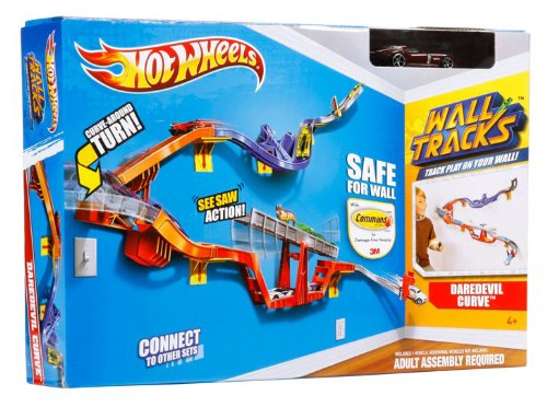 Amazon Hot Wheels Wall Tracks Daredevil Curve Track Set Toys