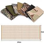 YAOBAO Filet De Camouflage, Filet Tactique en Filet Camo Écharpe Sniper Voile, Camouflez Votre Cou, Votre Visage Et… 11