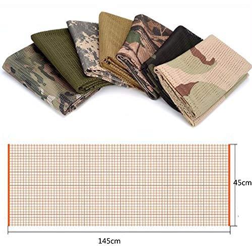 YAOBAO Filet De Camouflage, Filet Tactique en Filet Camo Écharpe Sniper Voile, Camouflez Votre Cou, Votre Visage Et… 4