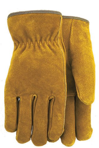 (Cotton Jersey Lined Suede Cowhide Leather Work Gloves, 415LJ )