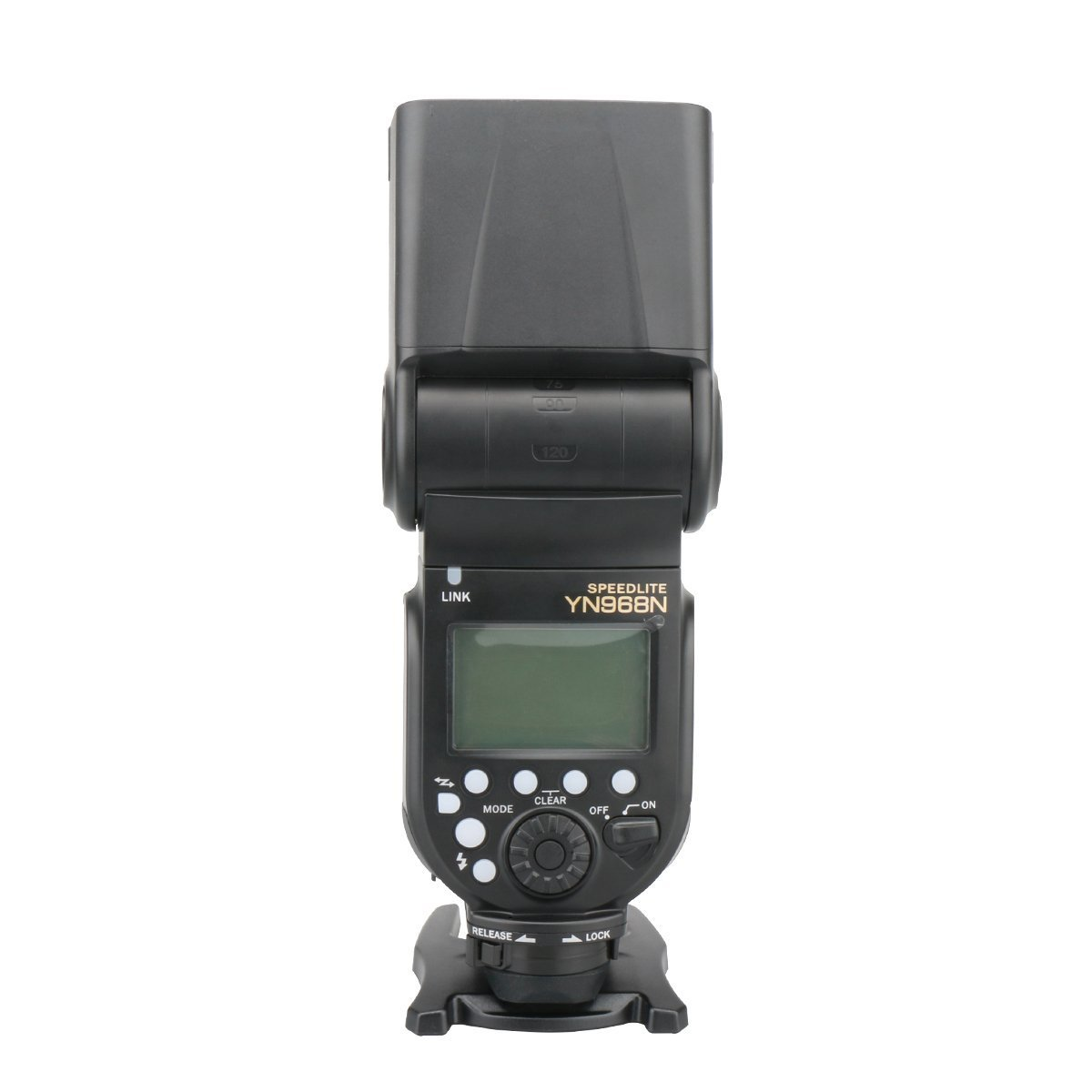 YONGNUO YN968N Wireless Flash Speedlite High-speed Sync TTL 1/8000 with LED Light for Nikon Compatible with YN622N and YN560 Wireless System with Diffuser