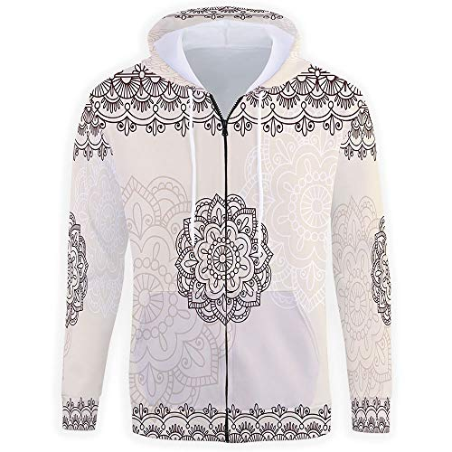 Unisex 3D Print,Henna Zipper Hoodie Sweatshirts Hooded for sale  Delivered anywhere in USA
