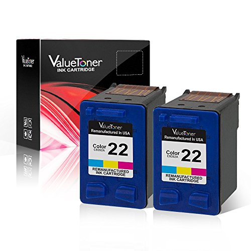 Valuetoner Remanufactured Ink Cartridge Replacement 2 Color for HP 22 CC580FN C9352AN High Yield Compatible for HP DESKJET F4180,F2210,D1560,3930,D1530,OFFICE 4315,J3640,FAX 3180,PSC 1401 (3180 Fax)