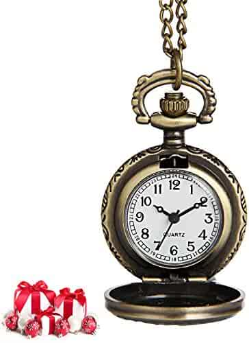 Hiwatch Women's Spider-Web Carving Pattern Hollow Out Antique Delicate Pocket Watch