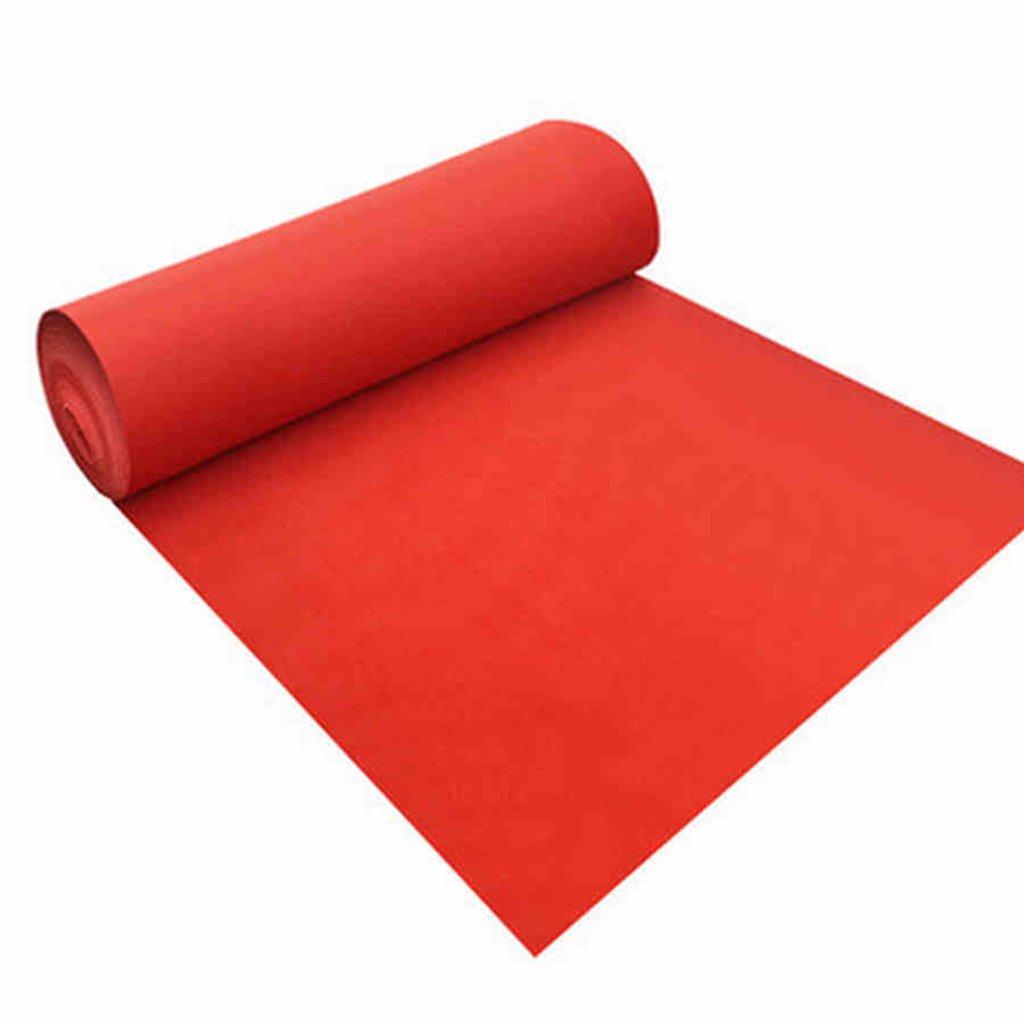WENZHE 敷物 ラグ カーペット カーペットとラグ使い捨てカーペットレッド不織布祝賀小道具、3幅、4サイズオプション ( サイズ さいず : 2m*10m ) B077N6VWWP  2m*10m