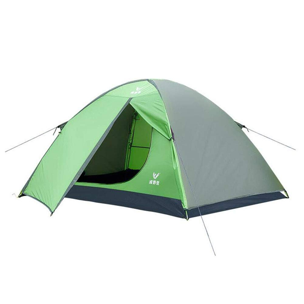DALL テント テント アウトドア 家族 キャンプ 軽量 防水 ポータブル ハイキング 二人 (色 : Green)  Green B07GSPRKRW