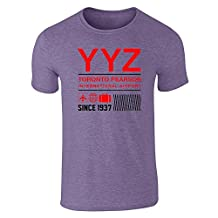 Pop Threads YYZ Toronto Airport Code Since 1937 Travel Short Sleeve T-Shirt