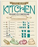 Kitchen Measures and Conversions Chart - 11x14 Unframed Art Print - Great Kitchen Decor, Also Makes a Great Gift Under $15