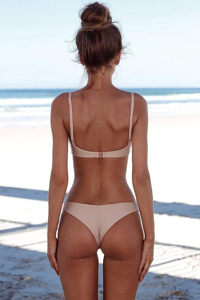 hmtitt Women Swimwear,Ladies Bandeau Bandage Bikini Set Push-Up Brazilian Swimwear Swimming Costume Beachwear Swimsuit Bathing Suits