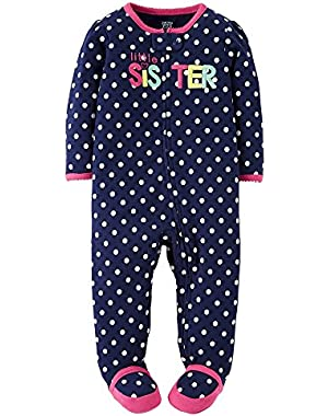 Just One You Baby Girls' Little Sister Sleep N' Play- Blue