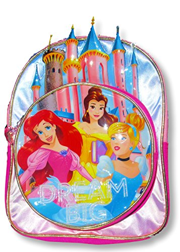Disney Toddler Preschool Backpack 10 inch Mini Backpack (Disney Princess Castle) (Kids Princess Backpack)