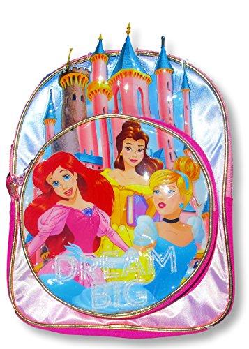 Disney Toddler Preschool Backpack 10 inch Mini Backpack (Disney Princess Castle) (Backpack Princess Kids)