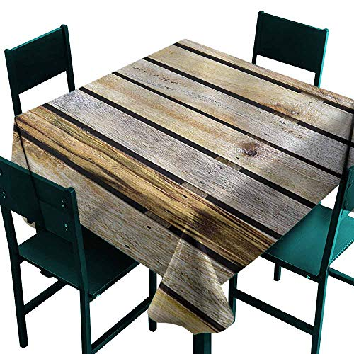 (DONEECKL Restaurant Tablecloth Rustic Country Timber Fence Great for Buffet Table W63 xL63)