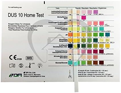 15 x Tiras reactivas de analisis de orina de 10 parametros ...